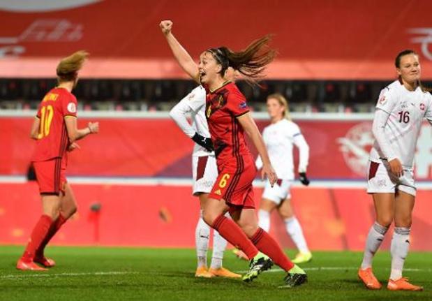 Red Flames - Belgische vrouwen pakken overtuigend groepswinst en EK-ticket