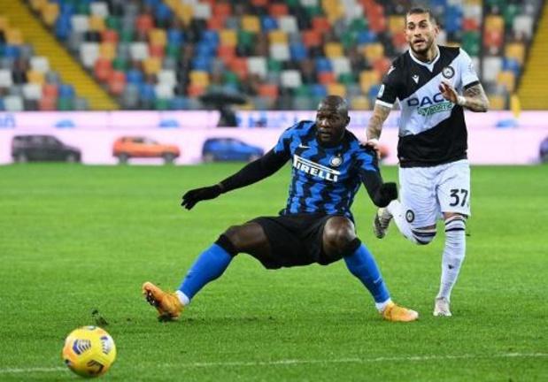 Les Belges à l'étranger - Accrochés à l'Udinese, l'Inter et Lukaku ratent l'occasion de rattraper l'AC Milan, battu