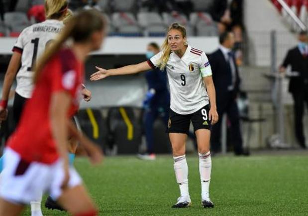 """Red Flames - """"Dit doet pijn"""", treurt Tessa Wullaert na verlies tegen Zwitsers"""