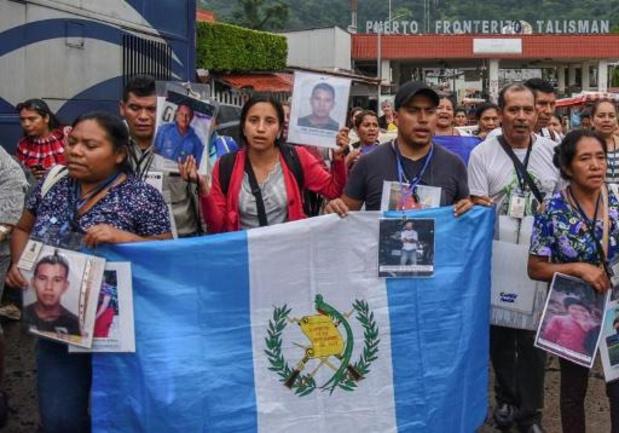 Un convoi de parents de migrants disparus parcourt le Mexique