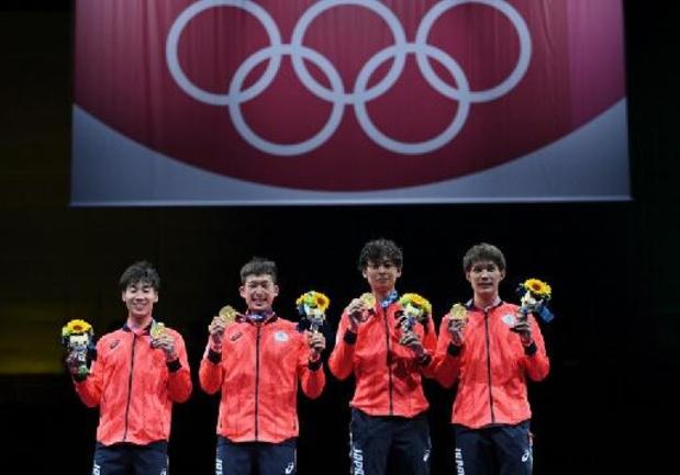 Eerste goud ooit in het schermen levert Japan 17e gouden medaille op