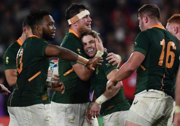 Coupe du monde de rugby: l'Afrique du Sud rejoint l'Angleterre en finale