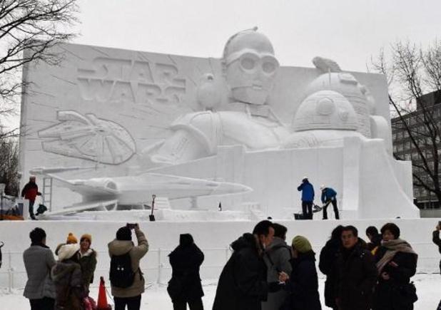 Dans le nord du Japon, un festival de la neige en manque de flocons
