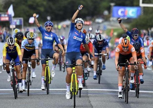 L'Italienne Elisa Balsamo championne d'Europe U23, Shari Bossuyt 7e