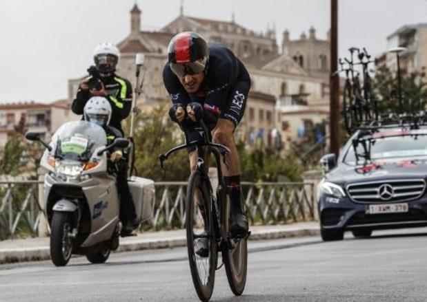 Tour d'Italie - Geraint Thomas, premier des favoris à l'arrivée samedi, est content de son chrono