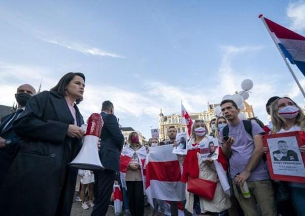 Wit-Russische oppositieleidster roept op tot protesten