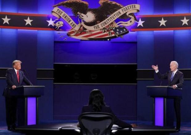 """Amerikaanse presidentsverkiezingen - """"Krachtig en fantastisch"""" laatste verkiezingsdebat tussen Trump en Biden"""