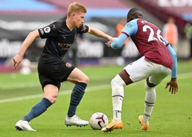 Manchester City partage à West Ham pour le retour de Kevin De Bruyne