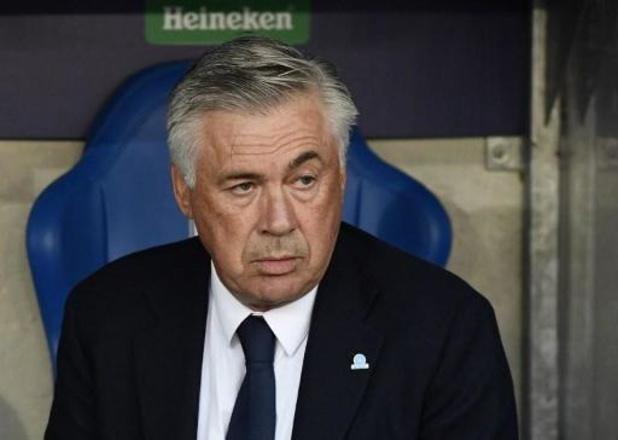 """Champions League - Napoli-coach Ancelotti is niet ontevreden na wedstrijd: """"Er zat niet meer in dan een punt"""""""