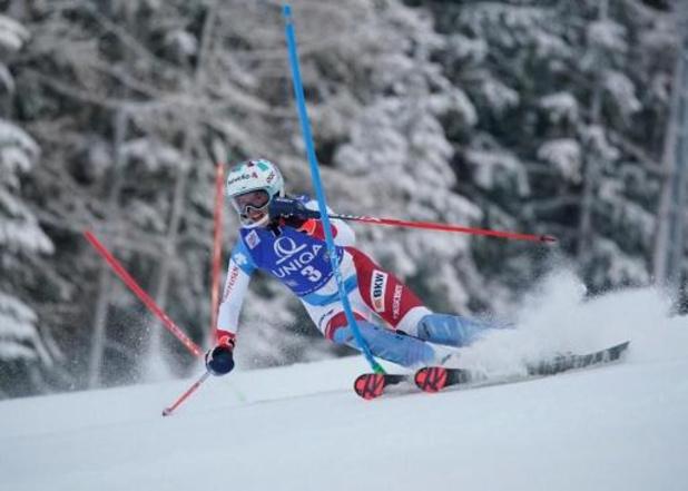 Michelle Gisin slalomt naar zege in Semmering