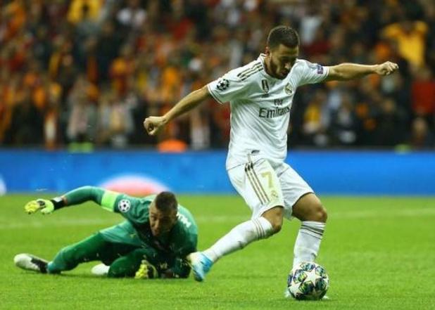 Belgen in het buitenland - Courtois en Hazard winnen met Real Madrid zuinig bij Galatasaray