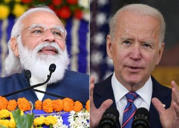 """Biden promet à Modi le """"soutien sans faille"""" des États-Unis face au Covid-19"""