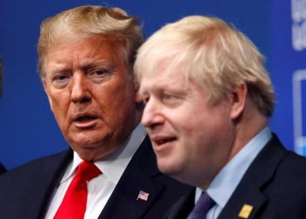 """Trump: """"Dit lijkt een grote overwinning voor Boris te zijn"""""""