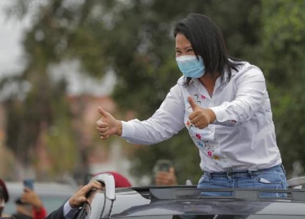 Fujimori aan de leiding met 52,9 procent