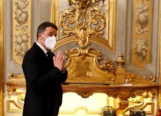 "Pour l'ex-Premier ministre Matteo Renzi, Mario Draghi sera celui ""qui sauvera l'Italie"""
