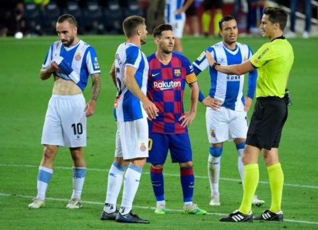 L'Espanyol Barcelone va contester sa relégation
