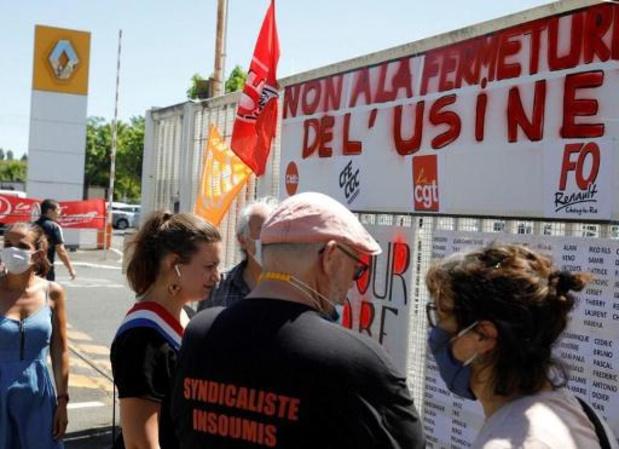 Duizenden betogers in Maubeuge tegen herstructureringsplan Renault