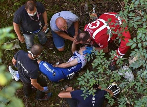 Deceuninck-Quick Step apporte des précisions sur l'incident lié à la chute d'Evenepoel