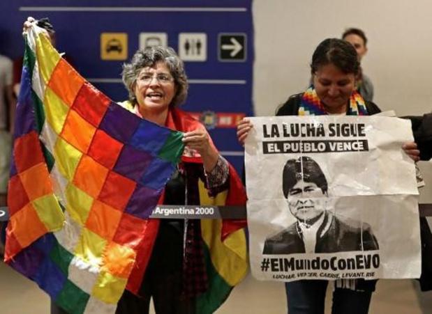 Onrust Bolivia - Twee kinderen van Evo Morales aangekomen in Buenos Aires