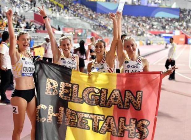 Mondiaux d'athlétisme - Les Belgian Cheetahs 4e du 4x400 m après les disqualifications de la Jamaïque et du Canada