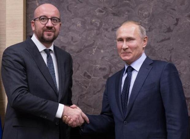 Oproep Michel aan Poetin: Rusland kan een rol spelen in crisis rond Wit-Rusland