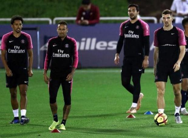 Le PSG avec Neymar et Thomas Meunier à Dortmund