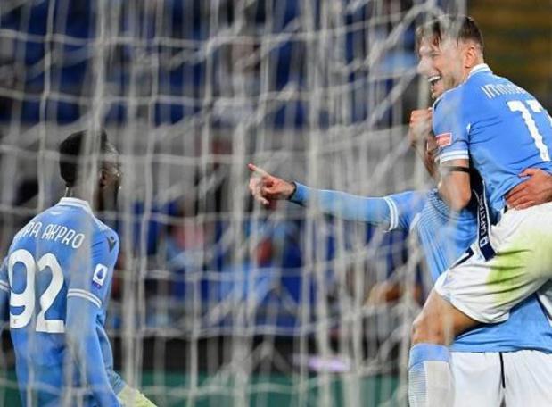 Serie A - Immobile keert terug uit quarantaine en helpt Lazio aan zege met recordgoal