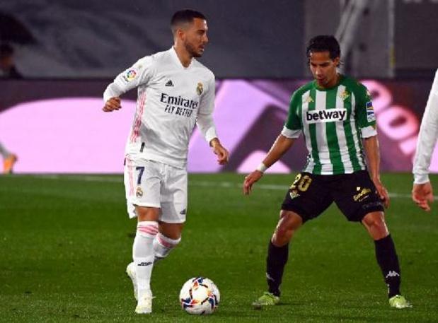 Les Belges à l'étranger - Le Real, avec Eden Hazard de retour 13 minutes, accroché par le Betis