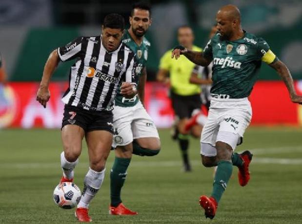 Titelhouder Palmeiras raakt in heenwedstrijd halve finale niet voorbij Atletico Mineiro
