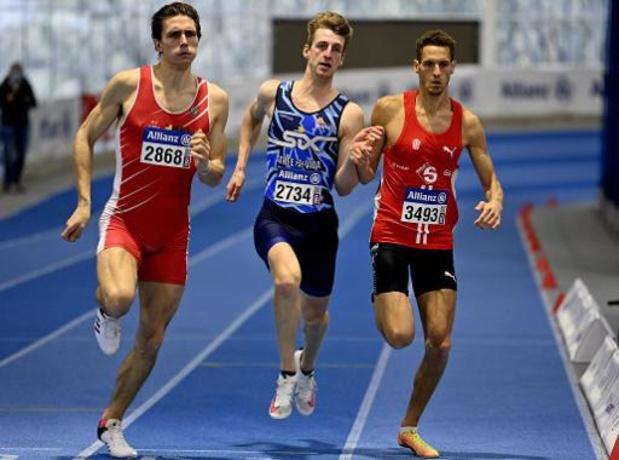 BK atletiek indoor - Alexander Doom wint in persoonlijk record, Dylan Borlée ontgoochelt met vierde plaats