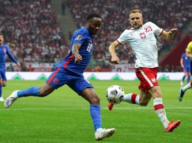 Qualifications Mondial 2022: L'Angleterre a perdu ses premiers points en Pologne