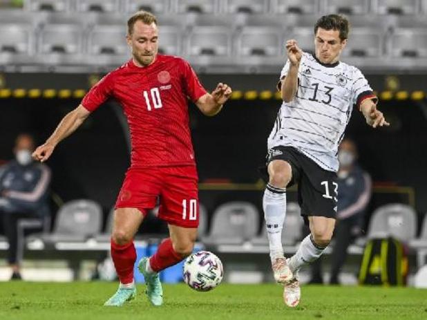 EK 2020 - Denemarken, tegenstander van Rode Duivels, speelt gelijk tegen Duitsland