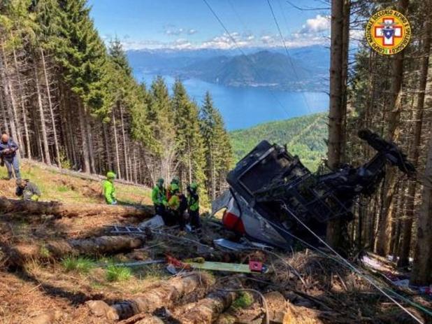 Negen doden bij ongeval met kabelbaan in Italië