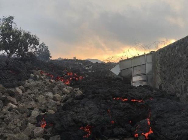 ESt de la RDC: la coulée de lave du Nyiragongo s'est arrêtée