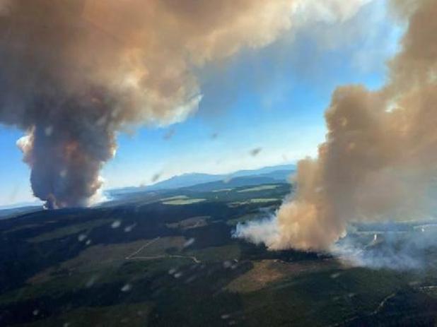 Leger ingezet tegen bosbranden Canada