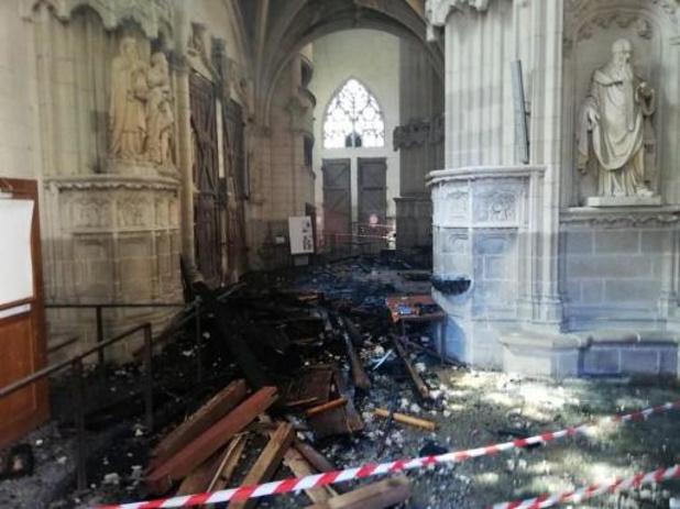 Incendie de la cathédrale de Nantes - Un bénévole du diocèse en garde à vue pour l'incendie de la cathédrale nantaise