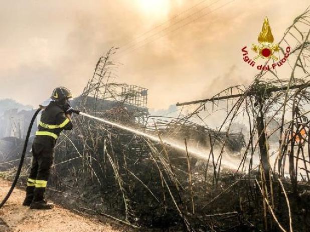 Italië bestrijdt 800 brandhaarden