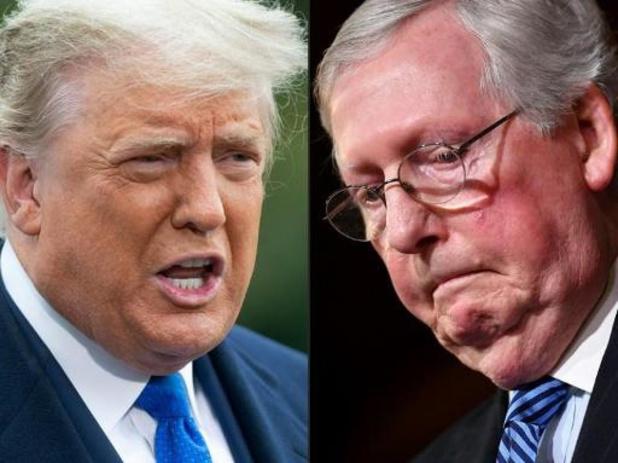 Trump roept Republikeinen op Mitch McConnell rug toe te keren