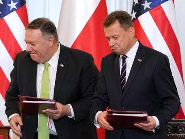 Pompeo tekent overeenkomst voor 1.000 extra VS-soldaten in Polen