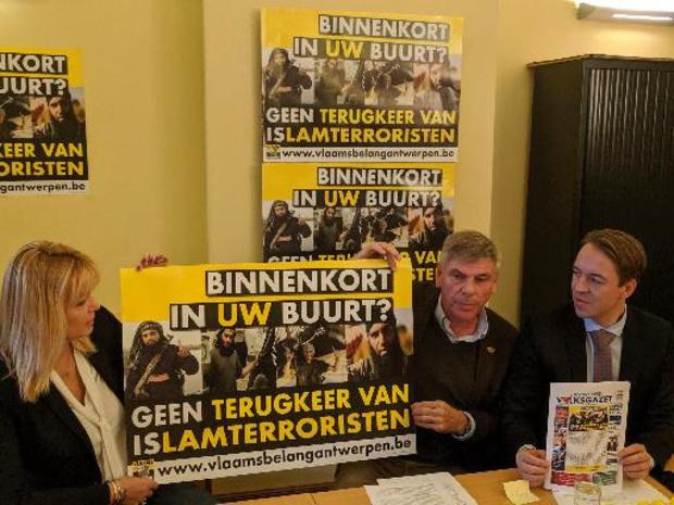 Vlaams Belang start campagne tegen mogelijke terugkeer Belgische Syriëstrijders