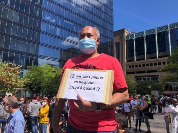 Manifestation à Bruxelles pour réclamer la régularisation immédiate des sans-papiers