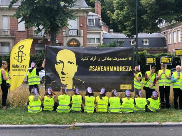 Drie dagen actie in Brussel om Iran te vragen Djalali niet te executeren