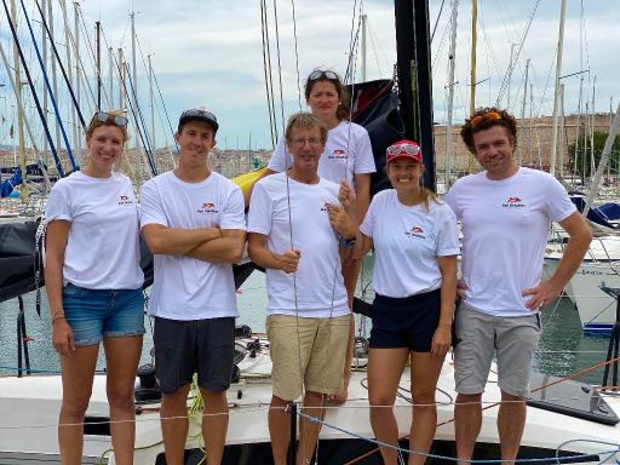 Jonas Gerckens et son équipe médaillés de bronze à l'Euro par équipages L30 à Marseille