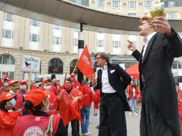 Lancement à Bruxelles de la campagne de la FGTB pour revoir la loi sur la norme salariale