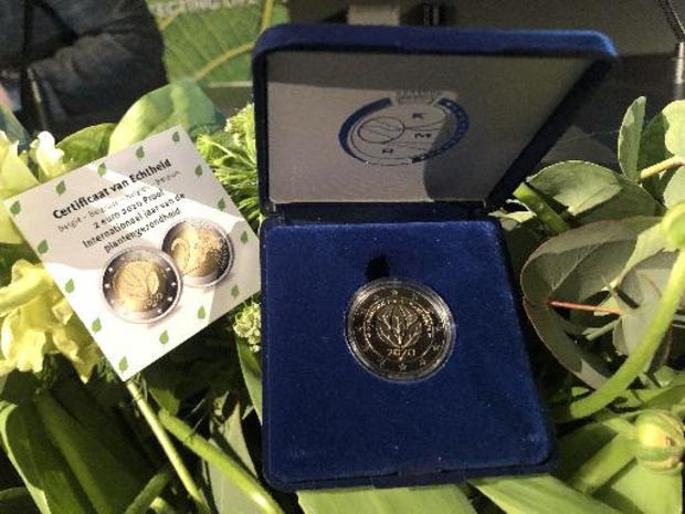 Belgische muntstuk van 2 euro promoot Internationaal Jaar van de Plantengezondheid