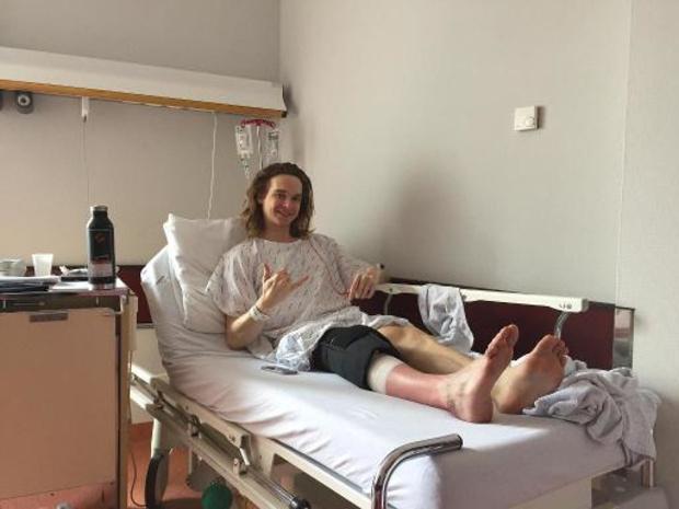 Seppe Smits is negen maanden out met scheenbeenbreuk