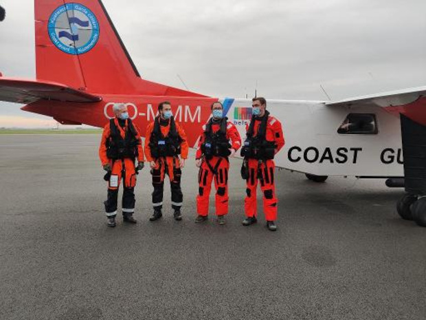 M. Van Quickenborne à bord d'un vol de contrôle des émissions en mer du Nord