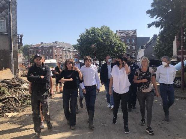 Elio Di Rupo et Christie Morreale en visite à Verviers