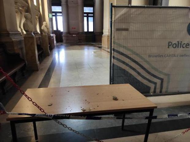 Dégâts des eaux au palais de justice de Bruxelles après un orage ce vendredi après-midi