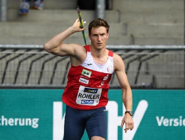 Speerwerper Thomas Röhler zal olympische titel niet verdedigen